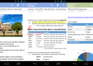 OneNote for Android screenshot
